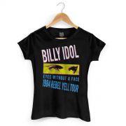 Camiseta Feminina Billy Idol Eyes Without a Face