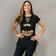 Camiseta Feminina Chocker Batman Up All Night