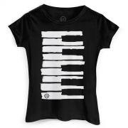 Camiseta Feminina Dudu Borges Musical Keyboard