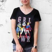 Camiseta Feminina Gola V GRL PWR