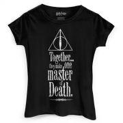 Camiseta Feminina Harry Potter The Deathly Hallows