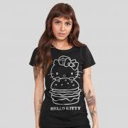 Camiseta Feminina Hello Kitty Burger Tracing