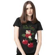 Camiseta Feminina Hello Kitty Cherry