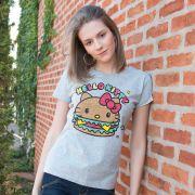 Camiseta Feminina Hello Kitty Magical Burguer