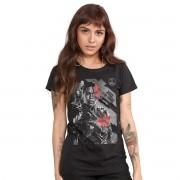 Camiseta Feminina Liga da Justiça Cyborg