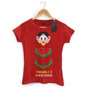 Camiseta Feminina Magali 50 Anos Food Over