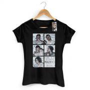 Camiseta Feminina NXZero Nao Deixe a Mare Te Levar Preta