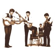 Camiseta Feminina The Beatles - Picture Sepia