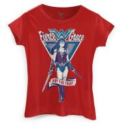 Camiseta Feminina Wonder Woman Fierce Grace