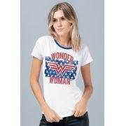 Camiseta Feminina Wonder Woman Flag Stars