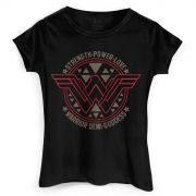 Camiseta Feminina Wonder Woman Logo Power Love