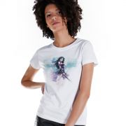 Camiseta Feminina Wonder Woman Watercolor