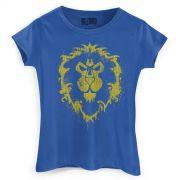 Camiseta Feminina World of Warcraft Aliança