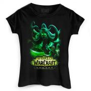 Camiseta Feminina World of Warcraft Illidan