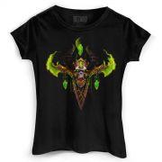 Camiseta Feminina World of Warcraft Illidan Demon Hunter