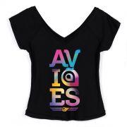 Camiseta Gola V Feminina Aviões do Forró Colors