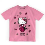 Camiseta Infantil Hello Kitty Joaninha