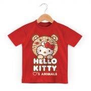 Camiseta Infantil Hello Kitty Love Animals