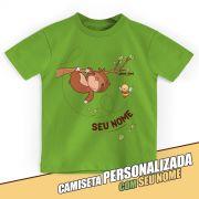 Camiseta Infantil Personalizada Jaime Bicho Preguiça