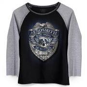 Camiseta Manga Longa Feminina Aerosmith Bad Boys of Boston