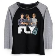 Camiseta Manga Longa Feminina Banda Fly Sunset Photo