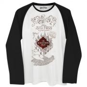 Camiseta Manga Longa Masculina Harry Potter The Marauder´s Map