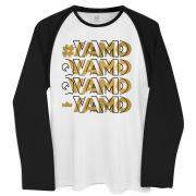 Camiseta Manga Longa Masculina #Vamo #Vamo