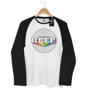 Camiseta Manga Longa Raglan Masculina The Beatles Help!