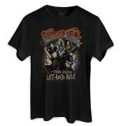 Camiseta Masculina Aerosmith Let Rock Rule Photo