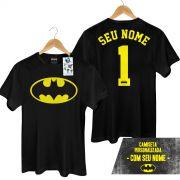 Camiseta Masculina Batman Logo Name