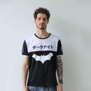 Camiseta Masculina Bicolor Batman Japan