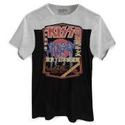 Camiseta Masculina BiColor Kiss Destroyer 78