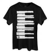 Camiseta Masculina Dudu Borges Musical Keyboard