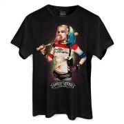 Camiseta Masculina Esquadrão Suicida Harley Quinn Bubble Gum