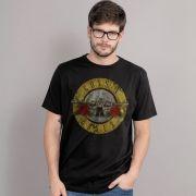 Camiseta Masculina Guns N' Roses Bullet