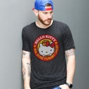 Camiseta Masculina Hello Kitty Big Bow Yummy Shop