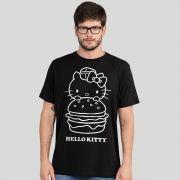 Camiseta Masculina Hello Kitty Burger