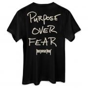 Camiseta Masculina Justin Bieber Purpose Over Fear