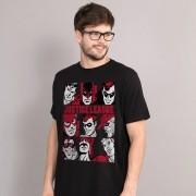 Camiseta Masculina Liga da Justiça Retrô