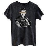 Camiseta Masculina Marmorizada Justin Bieber Blocked Eyes