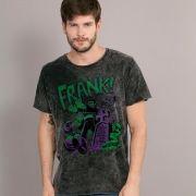 Camiseta Masculina Marmorizada Turma da Mônica Frank