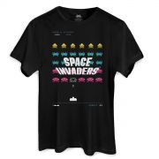 Camiseta Masculina Space Invaders Laser Base