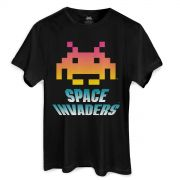 Camiseta Masculina Space Invaders Logo
