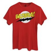 Camiseta Masculina The Big Bang Theory Bazinga! Clássica