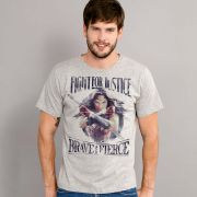 Camiseta Masculina Wonder Woman Fight For Justice