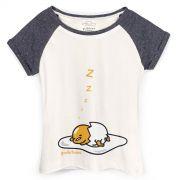 Camiseta Raglan Feminina Gudetama Cochilo