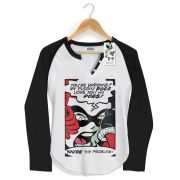 Camiseta Raglan Feminina Harley Quinn You´re The Problem