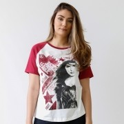 Camiseta Raglan Feminina Justice League Constructivism