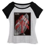 Camiseta Raglan Feminina NXZero Fração de Segundo