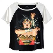 Camiseta Raglan Feminina Wonder Woman Action